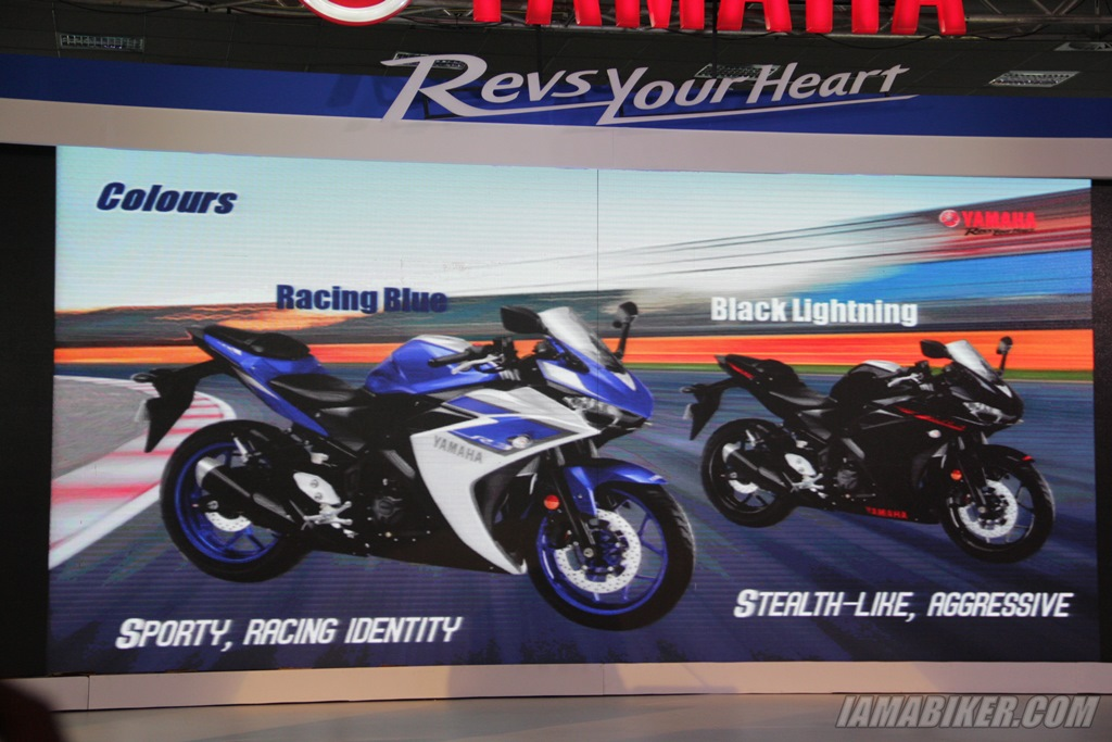 Yamaha R3 colour options