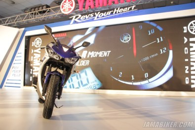 Yamaha YZF-R3 on stage at launch