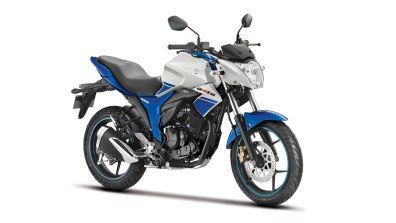 new Suzuki Gixxer Dual Tone White