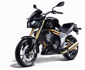 Mahindra Mojo black colour option front view