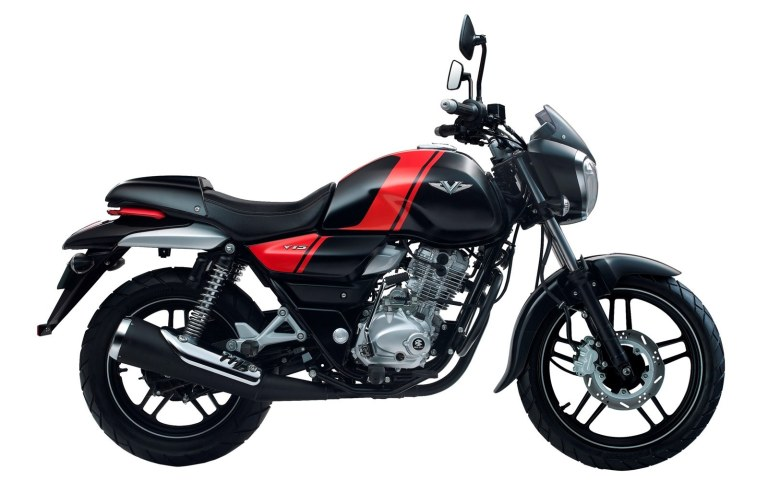 Bajaj V black colour option side view