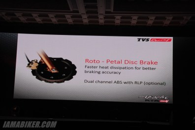 TVS Apache RTR 200 disc brake
