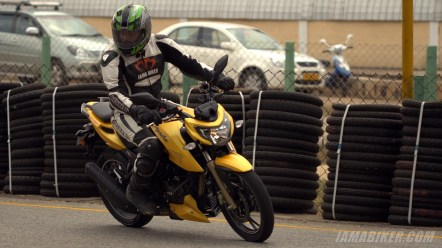 TVS Apache RTR 200 yellow
