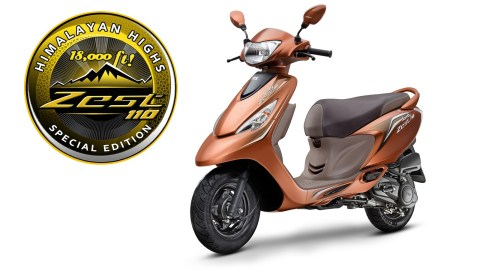 TVS Scooty Zest 110 Himalayan Highs Edition announced