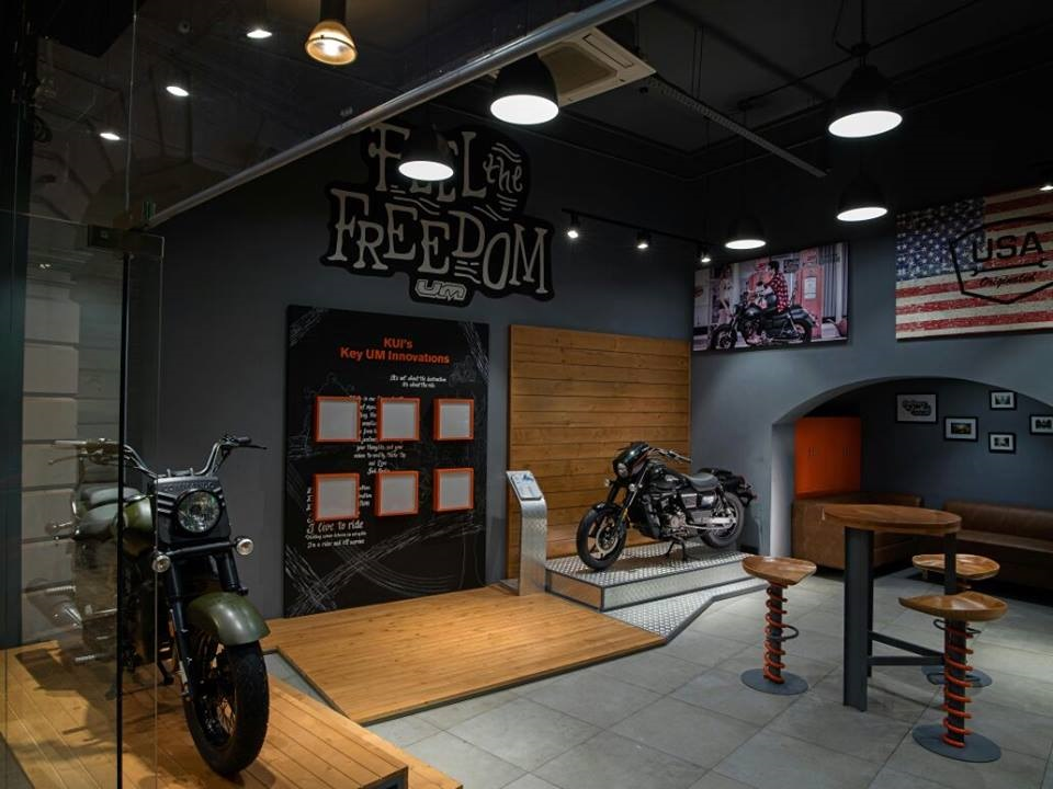 UM Motorcycles Delhi showroom dealership