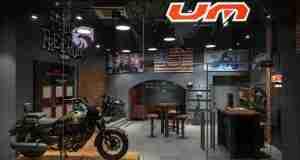 UM Motorcycles Delhi showroom