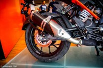 KTM Duke 250 exhaust silencer
