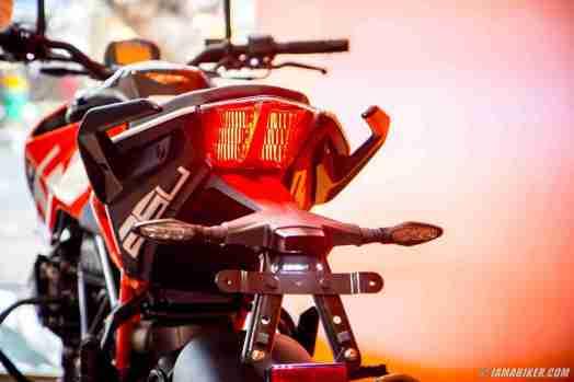 KTM Duke 250 brake light on