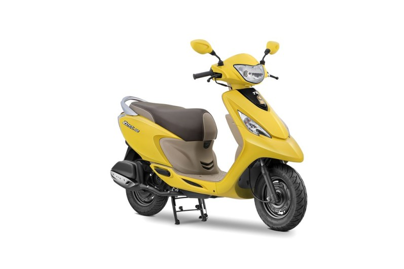 2017 TVS Scooty Zest 110 Matte Yellow