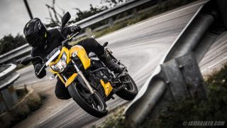 Apache RTR 200 Fi review handling and braking