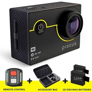 Procus 4K Action camera with accessories