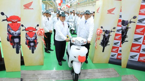Honda 2Wheelers Indias 4th assembly line at its Karnataka plant
