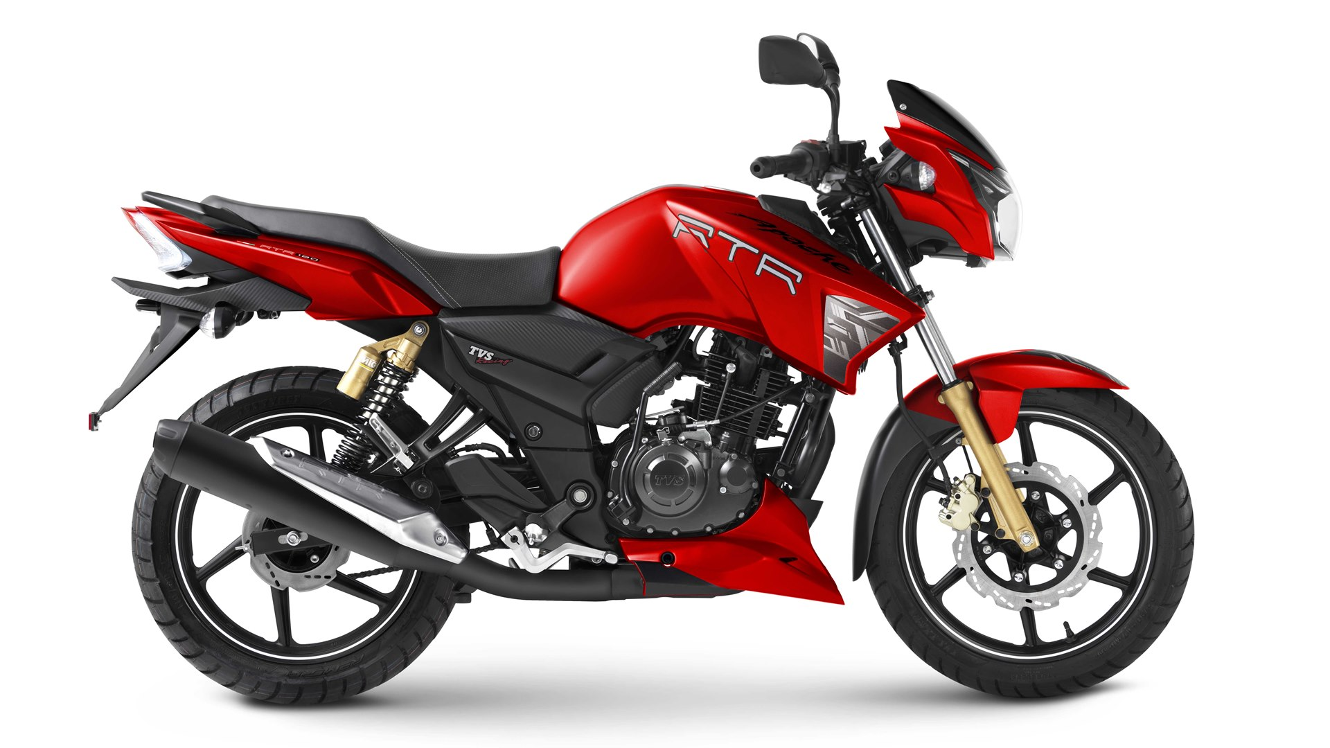 Tvs Apache Rtr 180 Matte Red Colour Option Iamabiker