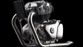 Royal Enfield 650cc Twin Engine LHS view