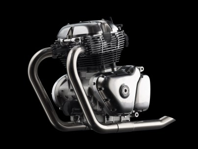 Royal Enfield 650cc Twin Engine Without Oil Cooler view - LHS