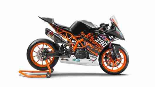 KTM RC390 R with SSP300 race kit