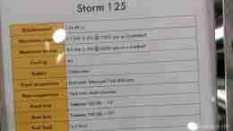 Aprilia Storm 125 specifications
