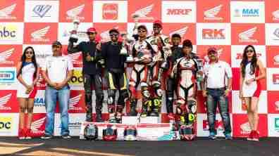 Winners AVT Gold Cup Million Motorcycle Endurance Race