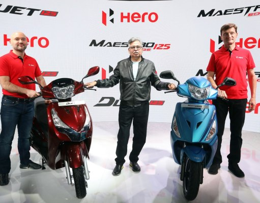 Hero launches Maestro Edge 125 and Duet 125