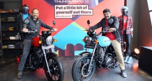 Mr. Rudratej Singh and Mr. Shaji Koshy launch Thunderbird 500X and Thunderbird 350X