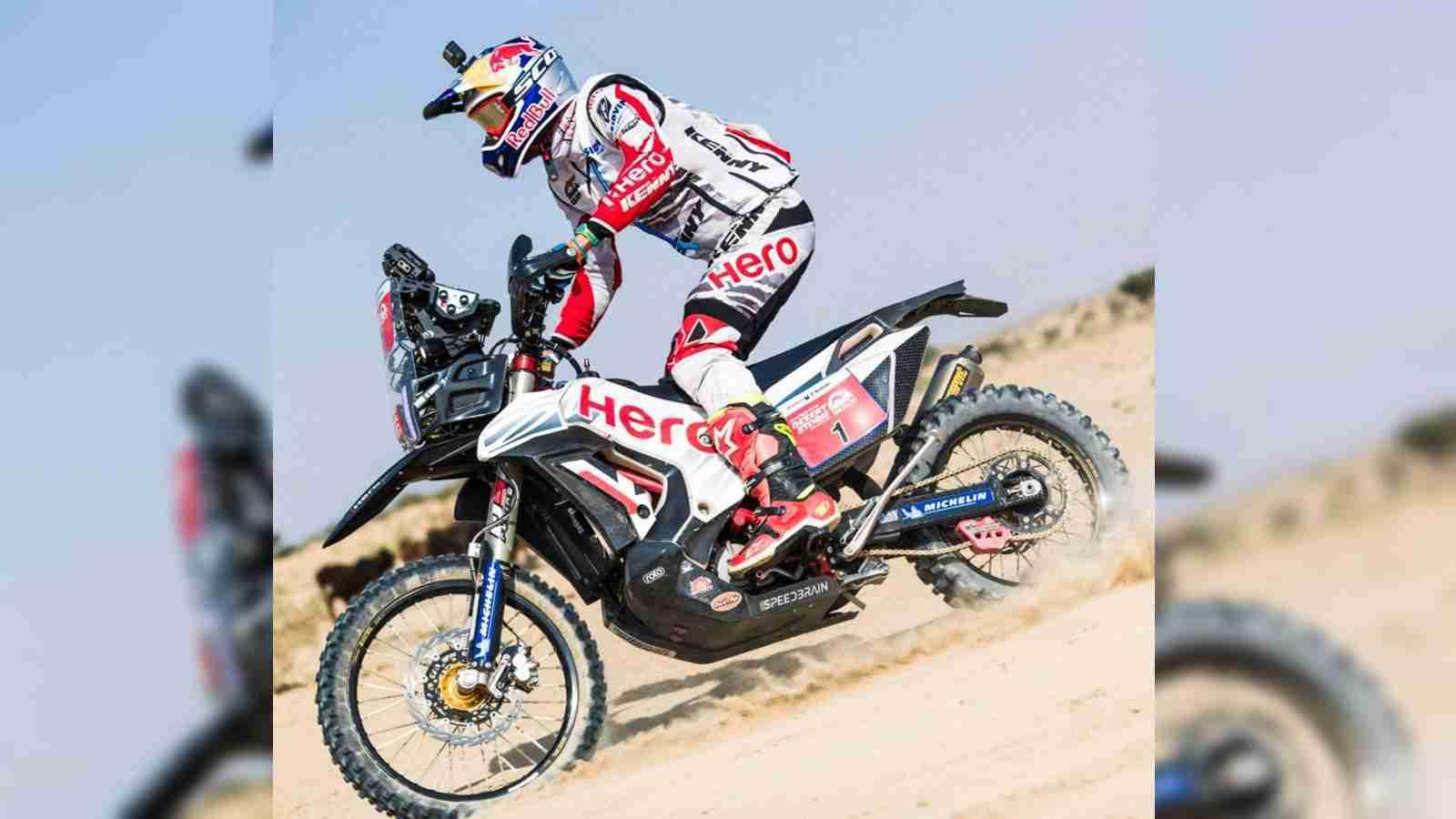 CS Santosh and Hero MotoSports Team Rally out of Desert Storm 2018