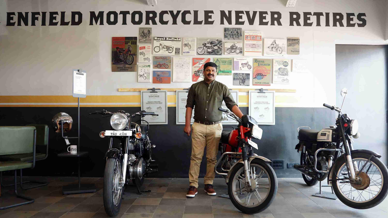 Royal Enfield Vintage Store Chennai with Mr Shaji Koshy