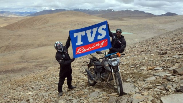 TVS Apache RTR 200 4V reaches 21,524 feet in Rupshu Valley