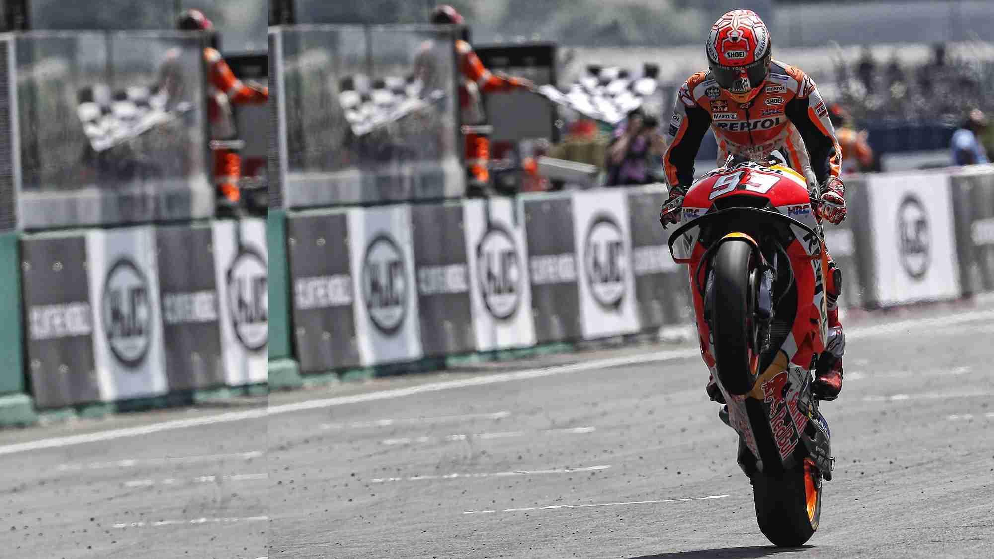 Marc Marquez Le Mans France MotoGP wallpaper