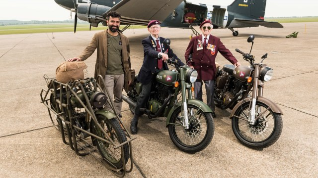 Siddhartha Lal and Battle of Arnhem veterans Fred Glover and John Jeffries