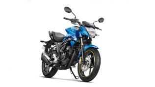 Suzuki Gixxer ABS colour option Metallic Triton Blue Glass Sparkle Black