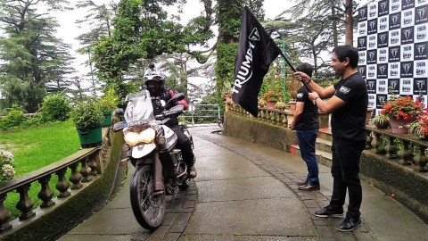 Triumph Tiger Trails 2.0 flagged off in India