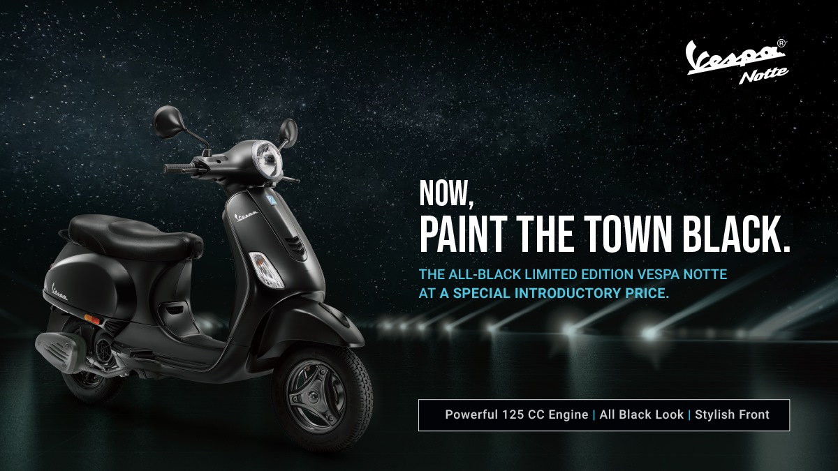 Vespa Notte launched at Rs 68,845 ex-showroom