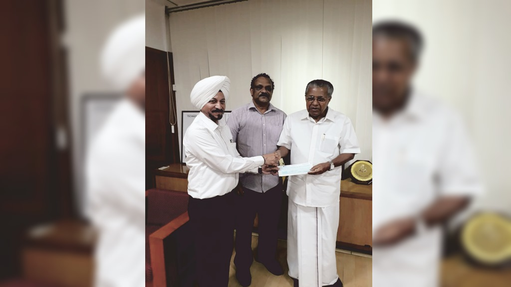 TVS contributes Rs. 1 crore for Kerala Distress Relief Fund