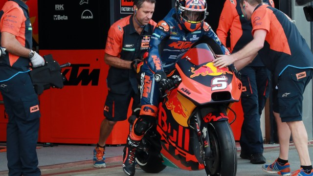 Johan Zarco on KTM RC16
