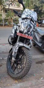 KTM 390 Adventure spotted in India headlight