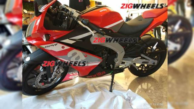 Aprilia RS 150 spotted at dealership