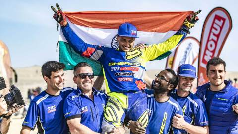 Aravind KP of the Sherco TVS Rally Factory Team conquers Dakar 2019