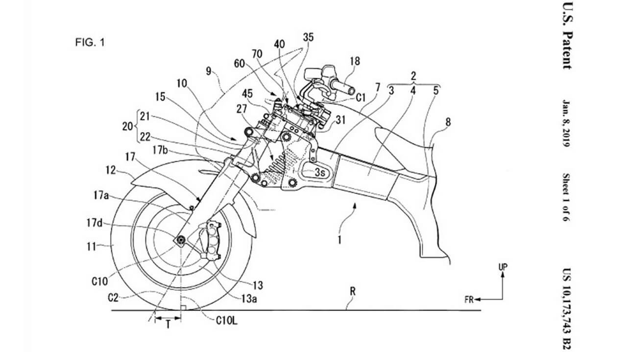 Honda working on a steering assist system for motorcycles