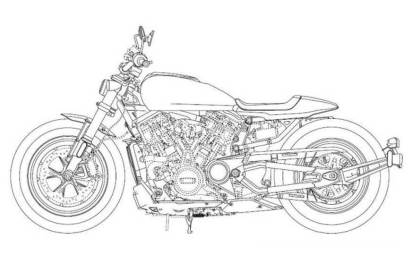 Harley-Davidson-Custom-1250 patent drawings