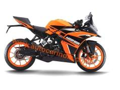 KTM RC 125 new orange-black colour scheme
