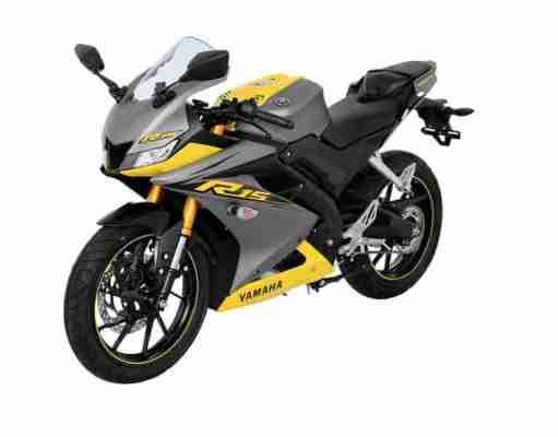 2019 Yamaha R15 V3 yellow-grey colour