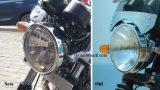 Royal Enfield Interceptor 650 - clear lens headlamp vs non-clear lens headlamp