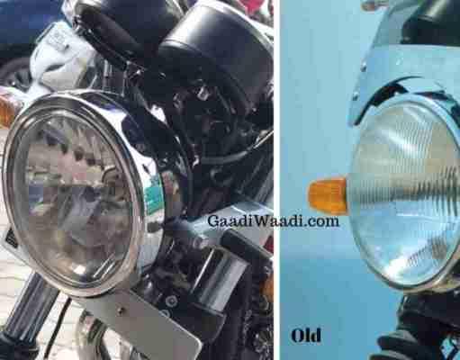Royal Enfield Interceptor 650 - clear lens headlamp vs non-clear lens headlamp