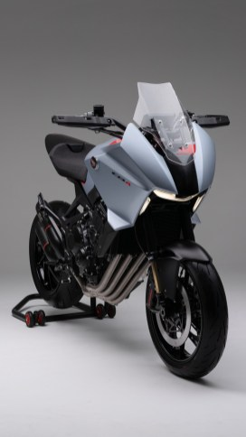 Honda CB4X concept front forks and exhaust pipe
