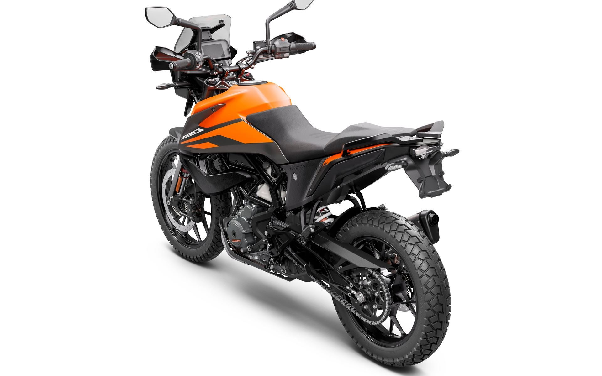 KTM 390 Adventure orange colour option