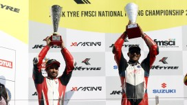 Ducati India's Rajini Krishnan and Dilip Lalwani bagged 1st & 2nd position at JK Tyre FMSCI Indian National Racing Championship 2019- Race 2 on Panigale V4