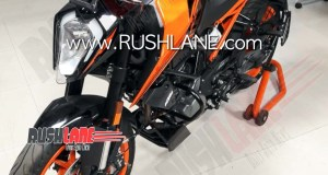 2020 BS6 KTM 200 Duke spy shot