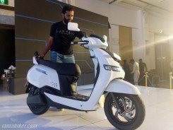 TVS iQUBE electric scooter alloy wheel and size