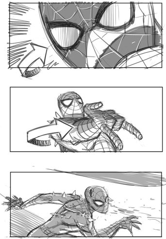 Storyboard Collection For Canceled Spiderman 4 Movie Art