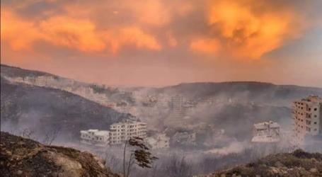 حرائق تلتهم آلاف الدونمات في ريف حمص والساحل السوري